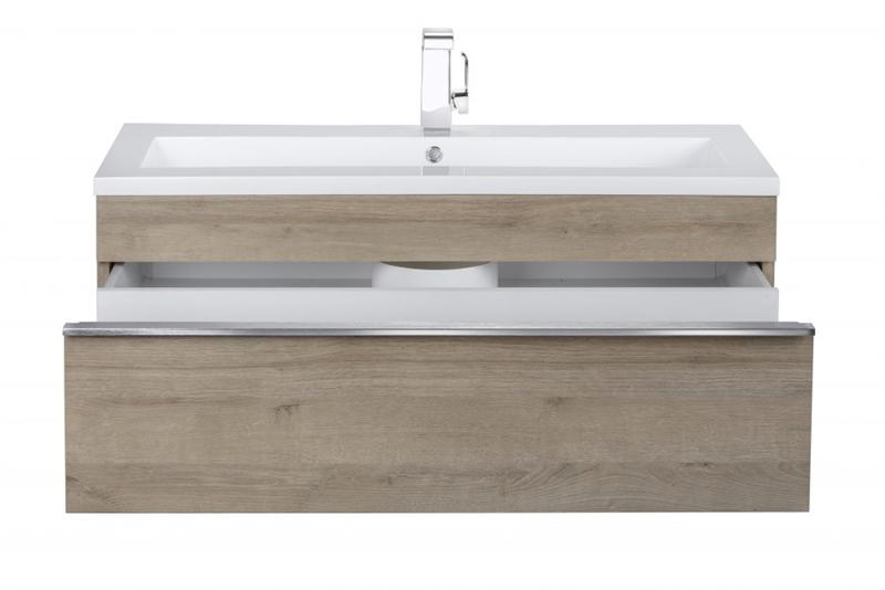 "Cutler FV TR ORGANIC42 Trough Collection 42"" Wall Mount Modern Bathroom Vanity - Organic"