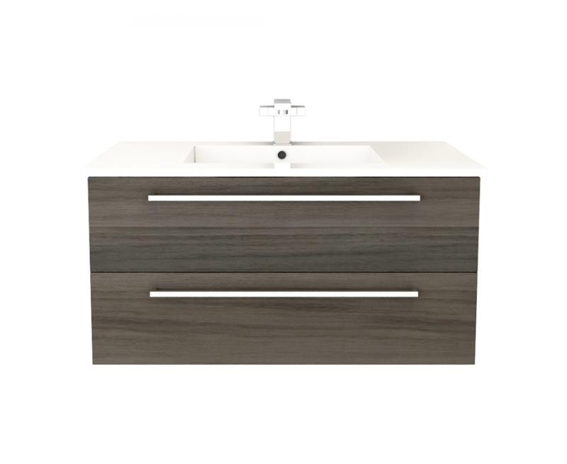 "Cutler FV ZAMBUKKA36 Silhouette Collection 36"" Wall Mount Bathroom Vanity - 2 Drawers With Top, Zambukka"