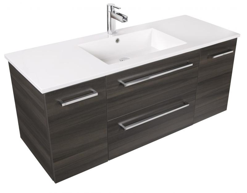 "Cutler FV ZAMBUKKA48 Silhouette Collection 48"" Wall Mount Bathroom Vanity - 2 Doors, 2 Drawers With Top, Zambukka"