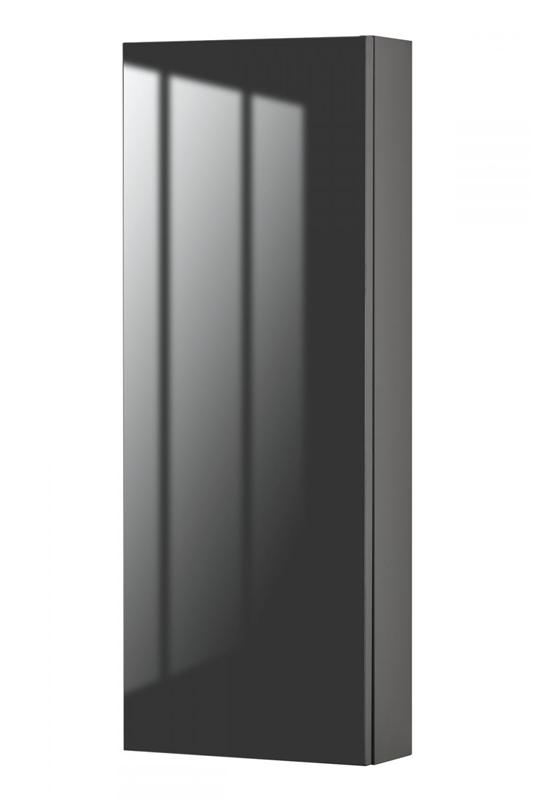 Cutler FVLAVA12MC Sangallo Gloss Collection Medicine Cabinet - Lava Grey Gloss