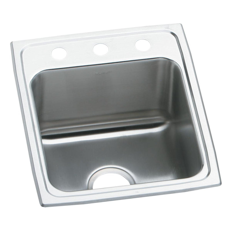"Elkay Lustertone Classic Stainless Steel 17"" x 16"" x 10-1/8"", Single Bowl Drop-in Sink"