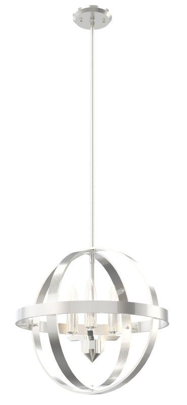 "DVI DVP18148SN Compass 16"" Orb Pendant Light Fixture Satin Nickel"