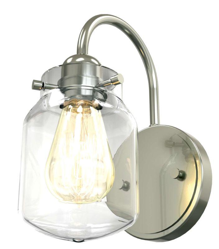 DVI DVP22701SN-CL Lexington Wall Sconce Light Fixture Satin Nickel