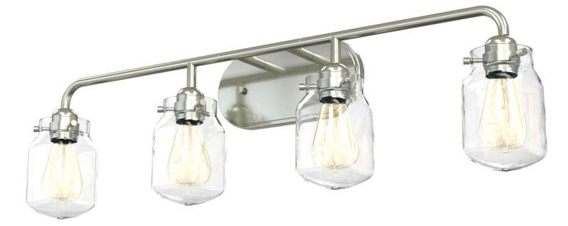 DVI DVP22744SN-CL Lexington Four Light Vanity Light Fixture Satin Nickel