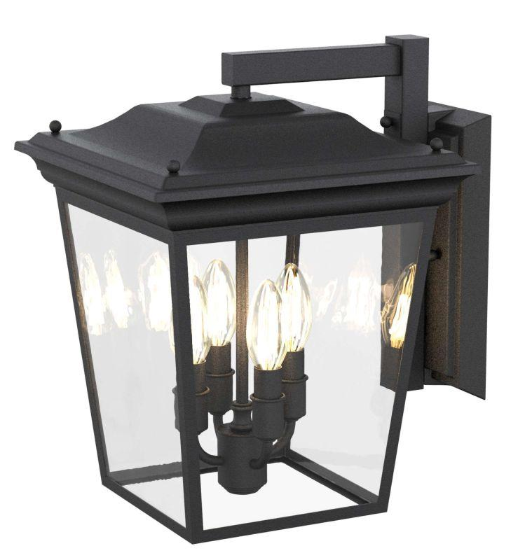 DVI DVP26072HB-CL Forest Hill Wall Sconce Light Fixture Hammered Black