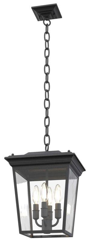 DVI DVP26078HB-CL Forest Hill Outdoor Pendant Light Fixture Hammered Black