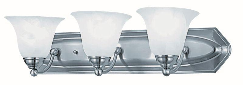 DVI DVP42403SN Diamond Three Light Vanity Light Fixture Satin Nickel