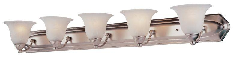 DVI DVP42405SN Diamond Five Light Vanity Light Fixture Satin Nickel