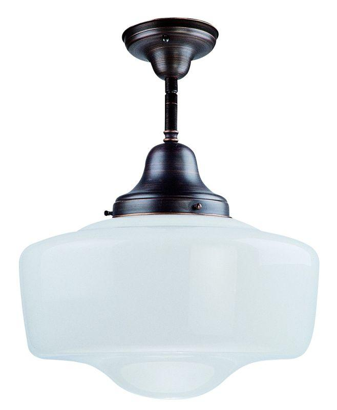 "DVI DVP7511ORB Schoolhouse 14"" Semi Flush Light Fixture Oil Rubbed Bronze"
