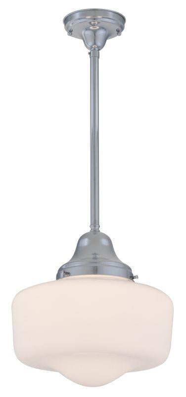 DVI DVP7521CH Schoolhouse One Light Semi Flush/pendant Light Fixture Chrome