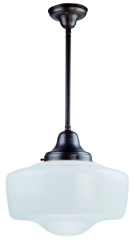 DVI DVP7521SN Schoolhouse One Light Semi Flush/pendant Light Fixture Satin Nickel