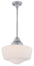 DVI DVP7551CH Schoolhouse One Light Semi Flush/pendant Light Fixture Chrome
