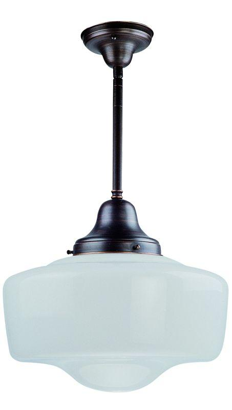 DVI DVP7551ORB Schoolhouse One Light Semi Flush/pendant Light Fixture Oil Rubbed Bronze