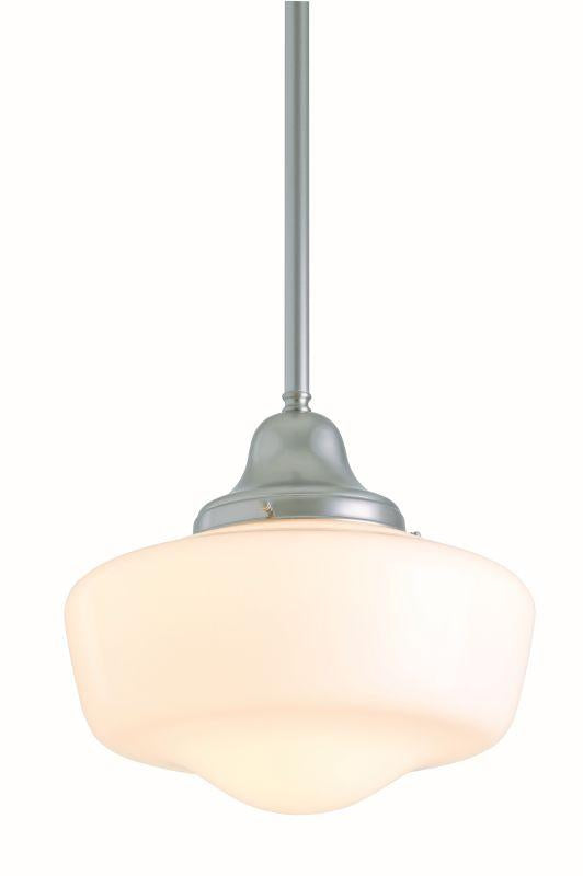 DVI DVP7551SN Schoolhouse One Light Semi Flush/pendant Light Fixture Satin Nickel