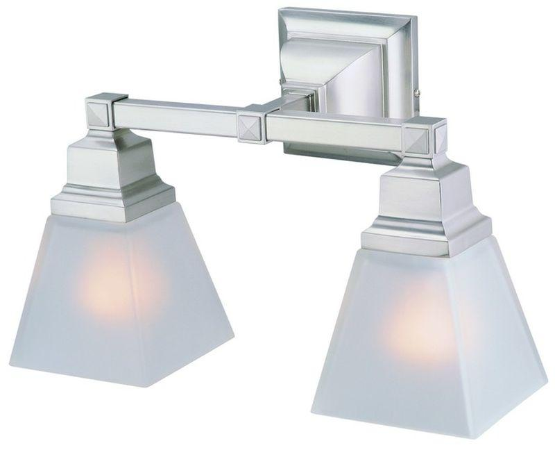 DVI DVP7622SN Aurora Two Light Vanity Light Fixture Satin Nickel