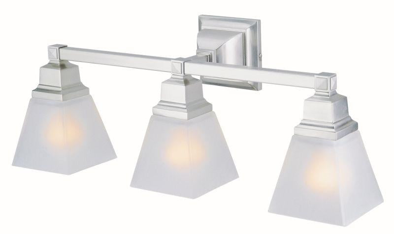 DVI DVP7643SN Aurora Three Light Vanity Light Fixture Satin Nickel
