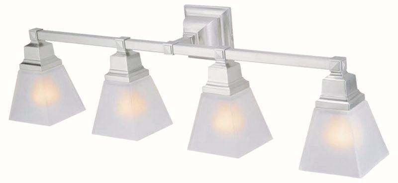 DVI DVP7644SN Aurora Four Light Vanity Light Fixture Satin Nickel