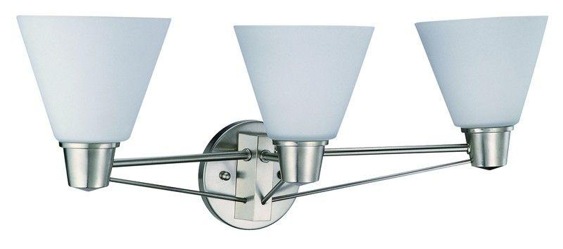 DVI DVP8043SN Yorkville Three Light Vanity Light Fixture Satin Nickel