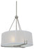 "DVI DVP9120BN Geometry 16"" Round Pendant Light Fixture Buffed Nickel"