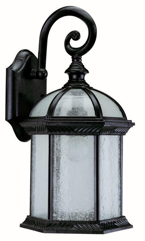 "DVI OCA1300BK Hexagon 15.5"" Outdoor Sconce Light Fixture Black"