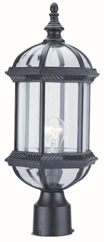 "DVI OCA140804BK Hexagon 18"" Post Top Light Fixture Black"