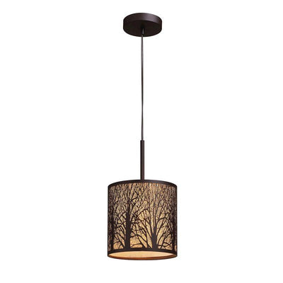 Elk Lighting 31073/1 Woodland Sunrise 1 Light Pendant In Aged Bronze