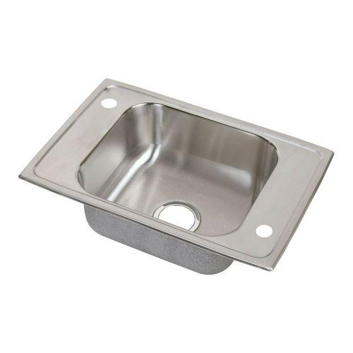 "Elkay CDKAD2517652LM Celebrity Stainless Steel 25"" x 17"" x 6-1/2"", Single Bowl Top Mount Classroom ADA Sink"