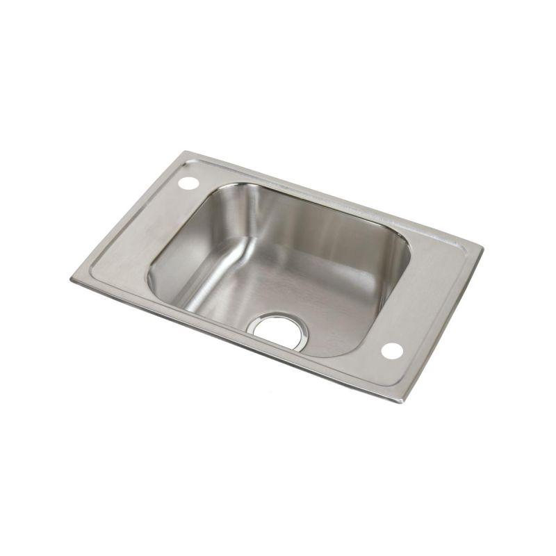"Elkay CDKAD2517654 Celebrity Stainless Steel 25"" x 17"" x 6-1/2"", Single Bowl Top Mount Classroom ADA Sink"