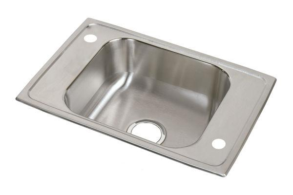 Elkay CDKAD251765X 20 Gauge Stainless Steel 25' X 17' X 6.5' Single Bowl Top Mount Sink