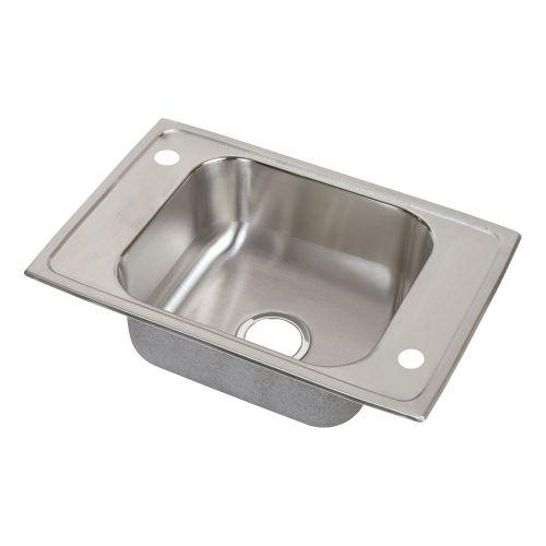 "Elkay CDKR25172 Celebrity Stainless Steel 25"" x 17"" x 6-7/8"", Single Bowl Top Mount Classroom Sink"