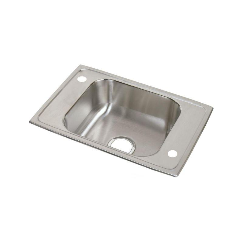 "Elkay CDKR25174 Celebrity Stainless Steel 25"" x 17"" x 6-7/8"", Single Bowl Top Mount Classroom Sink"