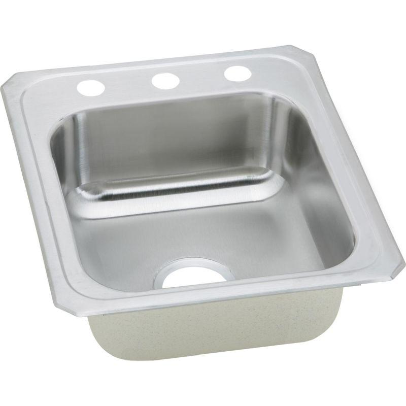 Elkay CR17212 Celebrity SS 17 x 21.2 x 6.8 Single Bowl Top Mount Sink