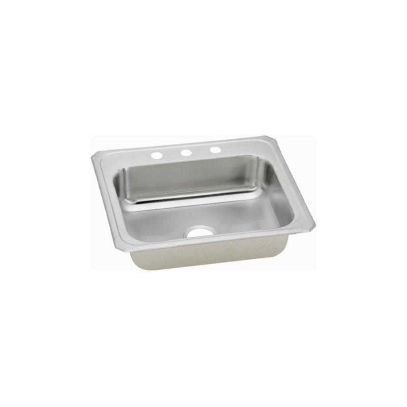 Elkay CR25214 Celebrity SS 25 x 21.2 x 6.8 Single Bowl Top Mount Sink