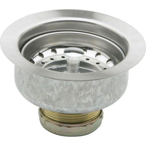 Elkay D1125 Dayton 3-1/2 Stainless Steel Drain with Removable Basket Strainer and Rubber Stopper