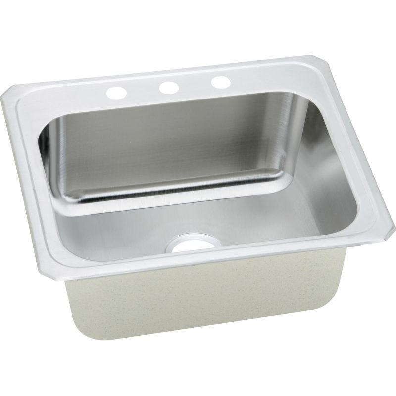 Elkay DCR2522104 Pursuit SS 25 x 22 x 10.2 Single Bowl Top Mount Laundry Sink