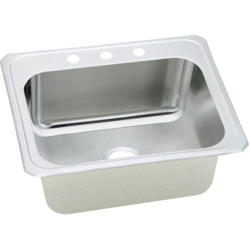 "Elkay DCR252210MR2 Pursuit Stainless Steel 25"" x 22"" x 10-1/4"", Single Bowl Top Mount Laundry Sink"