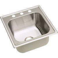 "Elkay DPC12020100 20 Gauge Stainless Steel 20"" X 20"" X 10.125"" Single Bowl Top Mount Laundry/Utility Sink"