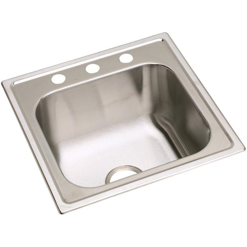 "Elkay DPC1202010OS4 Dayton Stainless Steel 20"" x 20"" x 10-1/8"", Single Bowl Top Mount Laundry Sink"