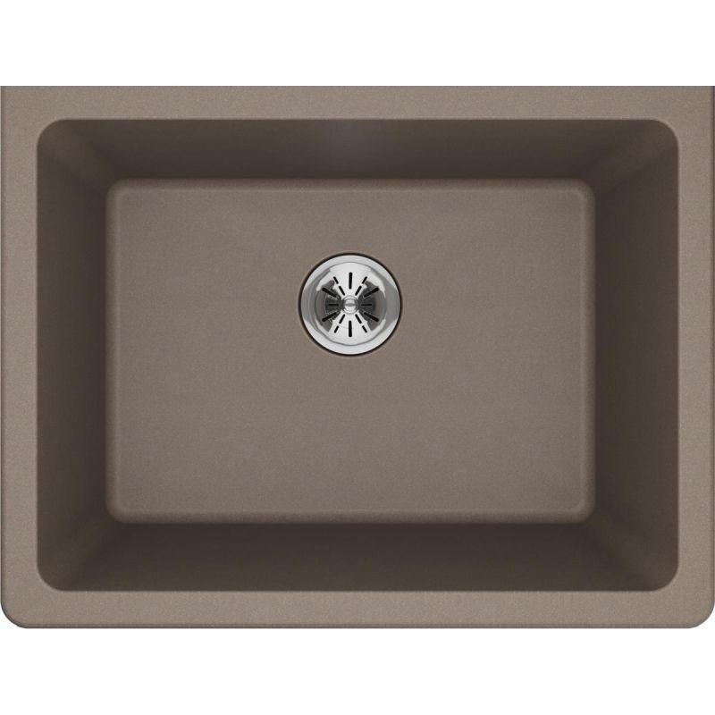 "Elkay ELGU251912PDGR0 Quartz Classic 25"" x 18-1/2"" x 11-13/16"" Undermount Laundry Sink with Perfect Drain, Greige"