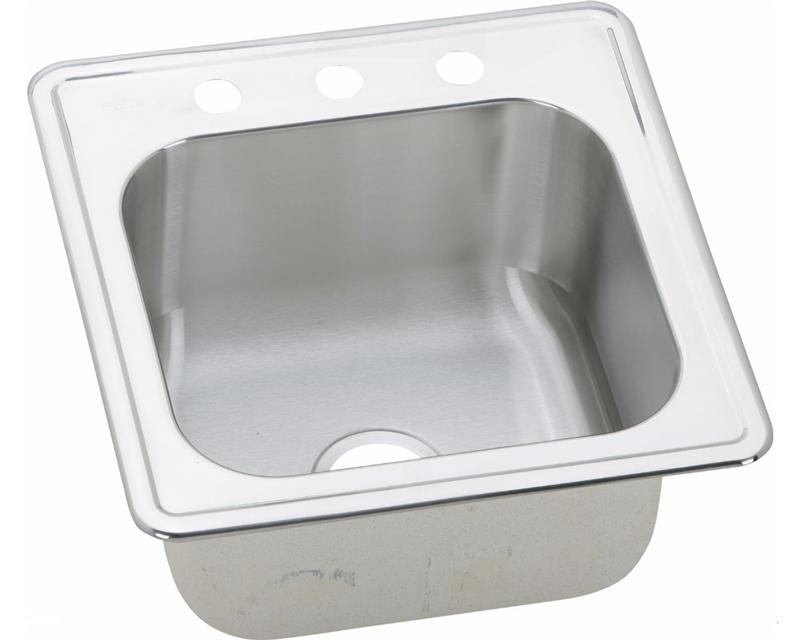 "Elkay ESE2020100 Celebrity Stainless Steel 20"" x 20"" x 10-1/8"", Single Bowl Top Mount Laundry Sink"