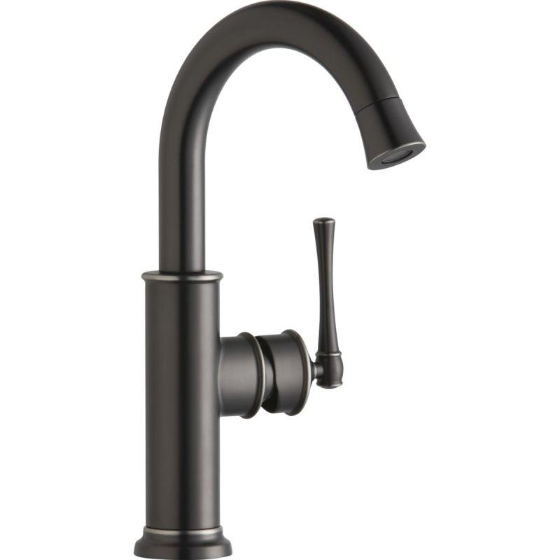 Elkay LKEC2012AS Explore Single Hole Bar Faucet with Forward Only Lever Handle Antique Steel