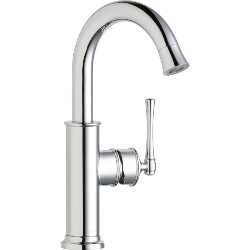 Elkay LKEC2012CR Explore Single Hole Bar Faucet with Forward Only Lever Handle Chrome