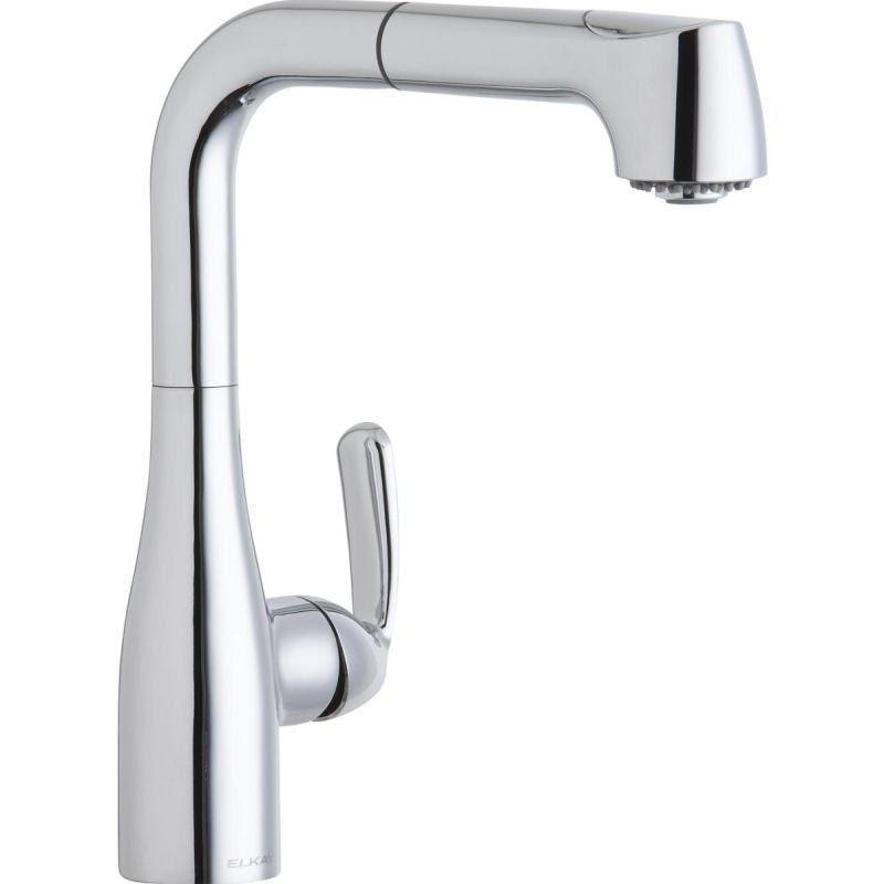 Elkay LKGT2042CR Gourmet Single Hole Bar Faucet with Pull-out Spray and Lever Handle Chrome