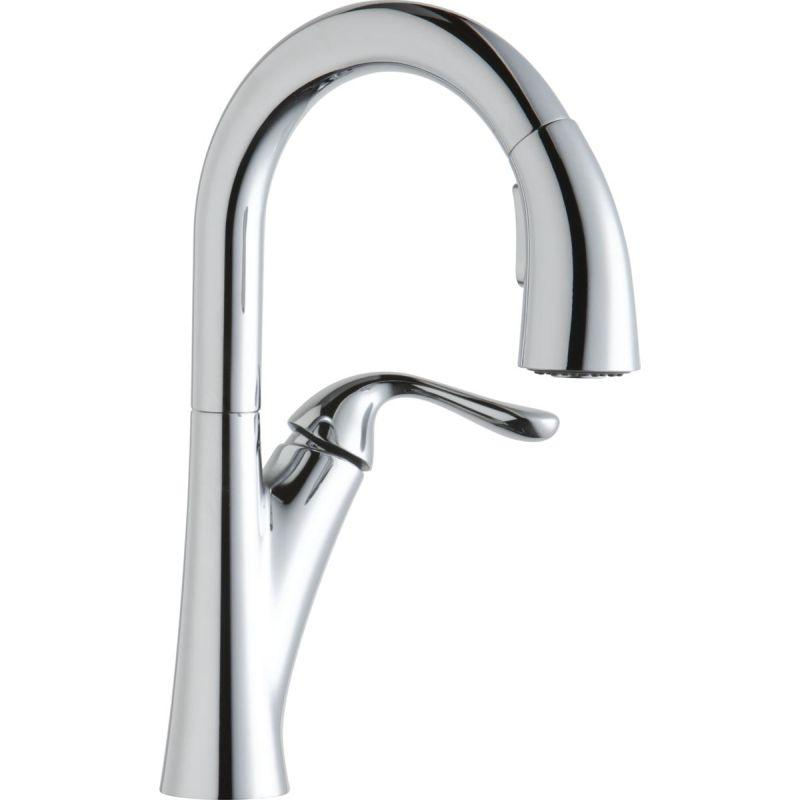 Elkay LKHA4032CR Harmony Single Hole Bar Faucet with Pull-down Spray and Forward Only Lever Handle Chrome
