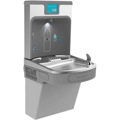 Elkay LZS8WSLP Filtered Enhanced EZH2O Bottle Filling Station with Single ADA Cooler- Light Gray