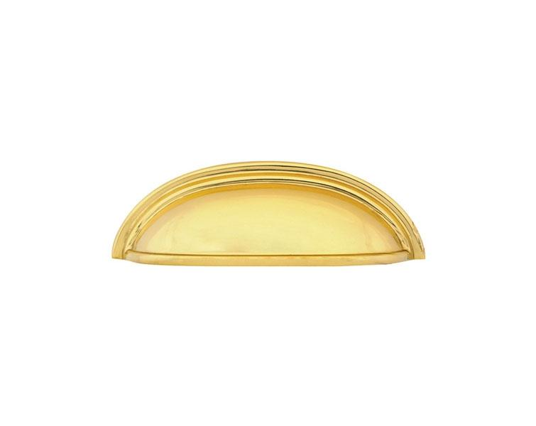 "Emtek 86123US3 Brass Cup Pull - 3"" (76mm) Polished Brass"