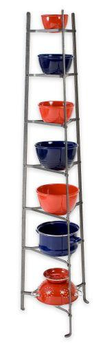 Enclume CWS7 KD HS 7-Tier Cookware Stand - Knocked Down Hammered Steel