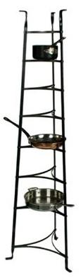 Enclume CWS8 KD HS 8-Tier Cookware Stand - Knocked Down Hammered Steel