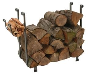 Enclume LR1AHSCL Indoor/Outdoor Large Rectangle Fireplace Log Rack Hammered Steel