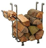 Enclume LR1BHSCL Indoor/Outdoor Rectangle Fireplace Log Rack Hammered Steel